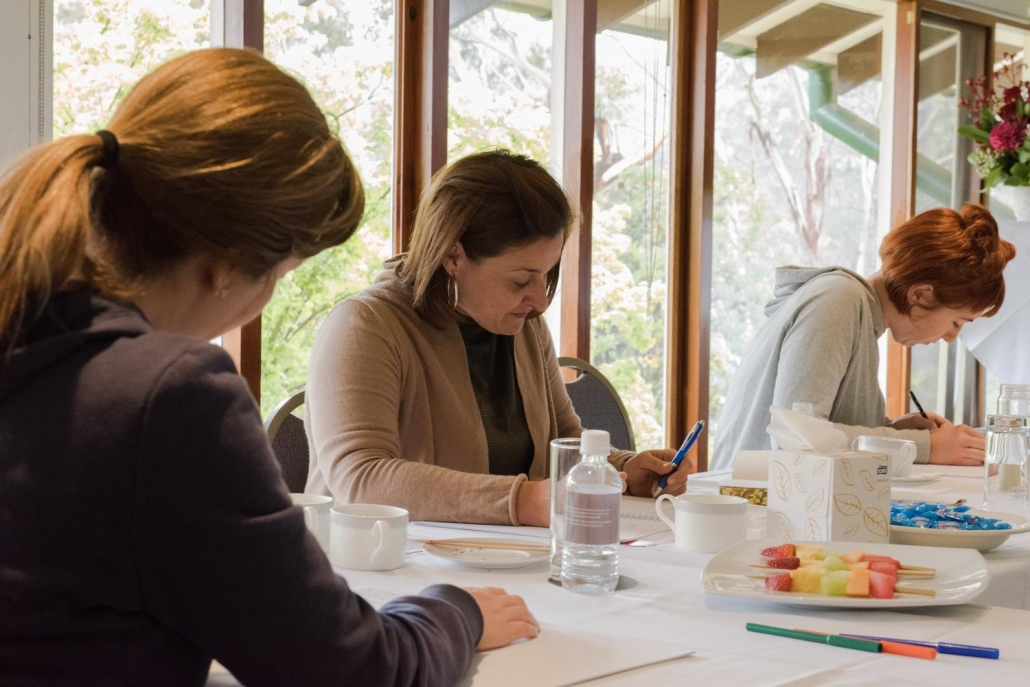 Woman at Suzi Petrozzi's Personal Development Retreat
